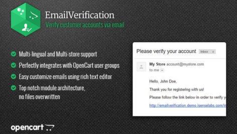 ماژول اپن کارت ارسال ایمیل تایید