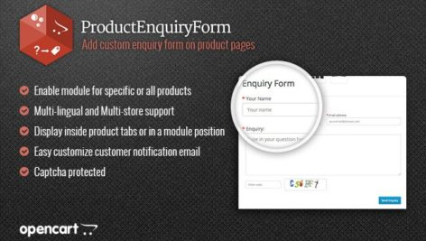 ماژول اپن کارت فرم سفارشی محصول