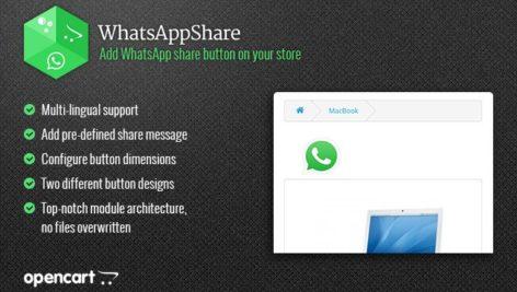 ماژول اپن کارت اشتراک گذاری در واتساپ
