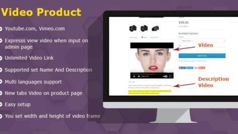 ماژول اپن کارت اضافه کردن تب ویدیو و توضیحات به محصولات